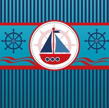 Sailboat Blue Lines Background - vector #166911 gratis