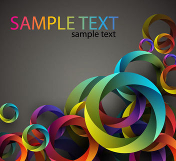 Abstract Cubic Circles Colorful Background - vector #166951 gratis