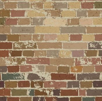 Grungy Vintage Brick Wall Pattern - Free vector #166981