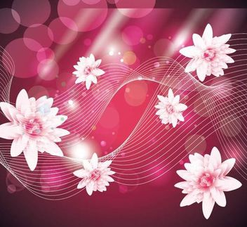 Abstract Pink Background with Lotus and Lines - vector gratuit #167081