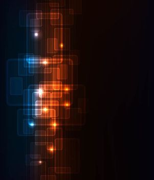 Dynamic Futuristic Fluorescent Squares Background - Free vector #167171