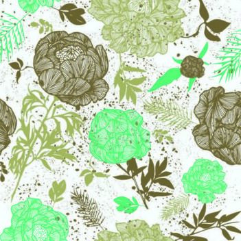 Retro Grungy Seamless Floral Pattern - Free vector #167241