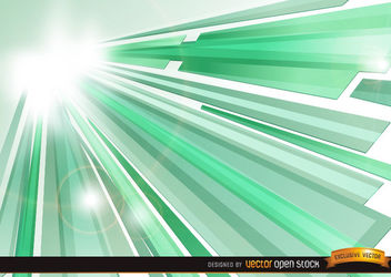 Green Crystal Sun Beams background - vector gratuit #167291