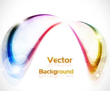 Abstract Colorful Curve Background with Glares - Free vector #167321