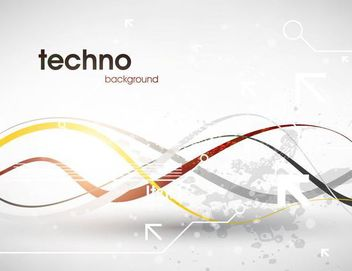 Abstract Grey Tech Background - Free vector #167331