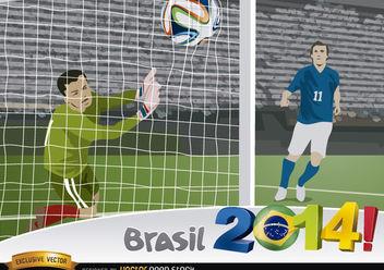 Brasil 2014 Goal capture - vector gratuit #167381