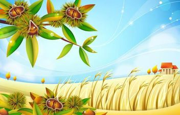 Autumn Chestnut Landscape - бесплатный vector #167391