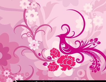 Creative Lovely Floral Background - vector #167661 gratis