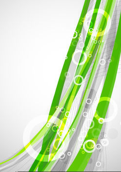 Abstract Stripes and Bubbles Background - Free vector #167681