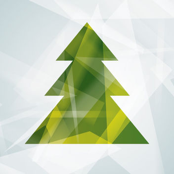 Abstract Modern Christmas Tree - Free vector #167861