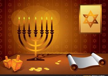 Hanukkah Design - Free vector #167931