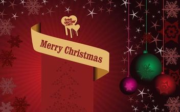 Shiny Reddish Christmas Poster - Free vector #167941