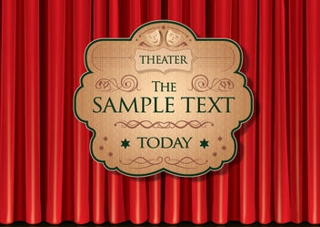 Theater Curtain Poster - Free vector #168001