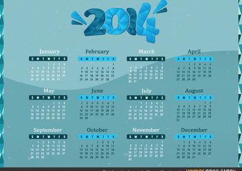 2014 Calendar - vector #168011 gratis