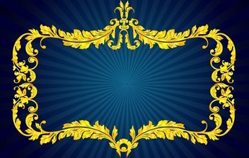Golden Floral Royal Frame - vector #168061 gratis