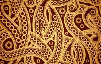 Seamless Spiral Golden Vintage Pattern - Free vector #168121