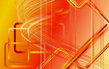 Orangey Futuristic Stripy Background - Kostenloses vector #168141