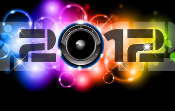 Happy New Year 2012 Vectors - vector gratuit #168601