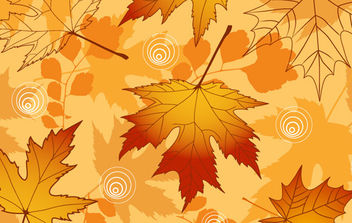 Brown Autumn Leaf Background - Free vector #168691