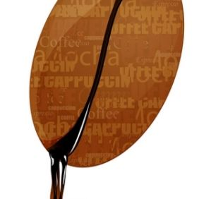 Dripping Coffee Bean 2 - vector gratuit #168881