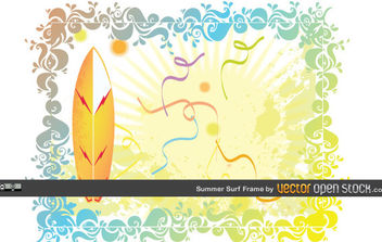 Summer Surf Frame - Free vector #168911