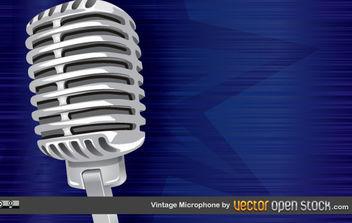 Vintage Microphone - vector gratuit #168951