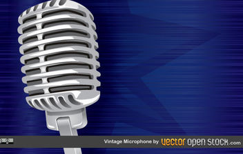 Vintage Microphone - бесплатный vector #168951