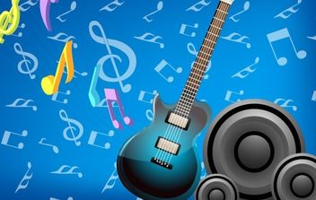 Music Card - vector gratuit #169161