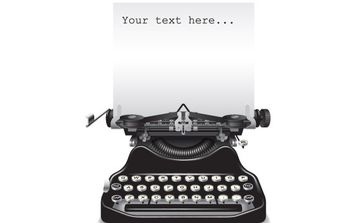 Old typewriter with a paper - vector gratuit #169251