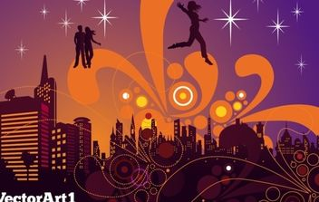 City Nightlife - vector #169281 gratis