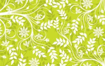 Green Background Pattern Vector - vector #169341 gratis