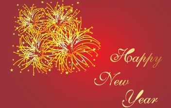 HAPPY NEW YEAR - vector gratuit #169461