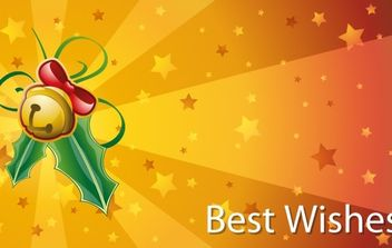 Christmas Best Wishes Cards Vector - Free vector #169501