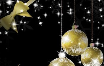 Gold Christmas vector elements 25 - Free vector #169531