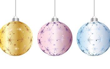 Christmas balls - Free vector #169571