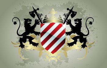 Medieval heraldic shield - vector gratuit #169651