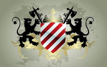 Medieval heraldic shield - Free vector #169651