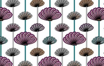 flower wallpaper vector patterns - vector gratuit #170031