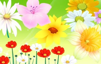 Colorful Flower Vector 2 - vector gratuit #170151