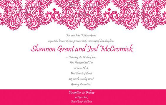 Paisley_Wedding_Invitation_Set - Kostenloses vector #170181