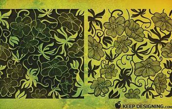 Art Deco Florals - Free vector #170201