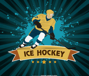 Ice Hockey grunge design - vector gratuit #170271