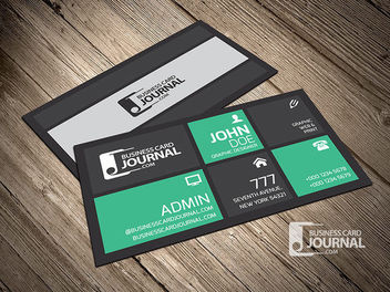 Beautiful Modern Corporate Business Card - Kostenloses vector #170451