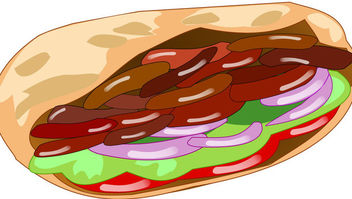 Funky Abstract Doner Kebab - бесплатный vector #170651