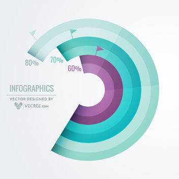 Abstract Spiral Round Business Infographic - Free vector #170681