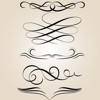 Creative Abstract Calligraphic Ornament Set - Free vector #170781