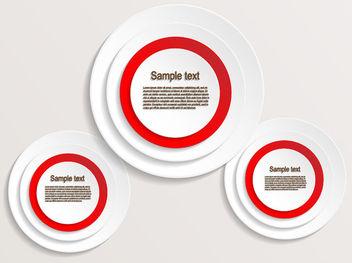 Creative Circular Banner & Label - Free vector #170811