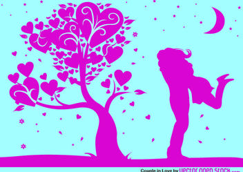 Valentine's Night Embrace - Free vector #170911