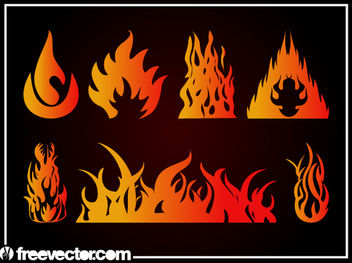 Gradient Abstract Flame Pack - vector gratuit #170921