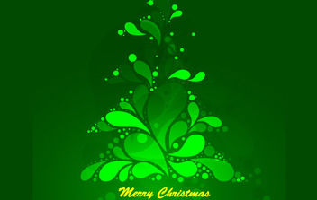 Abstract Green Christmas Tree - vector gratuit #171011